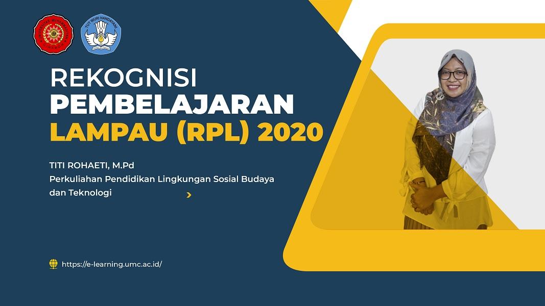 Pendidikan Lingkungan Sosial Budaya dan Teknologi - RPL